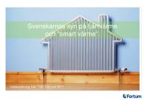 Rapport: svenskarnas syn på fjärrvärme och Smart Värme.