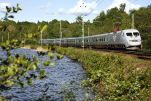 Raka järnvägsspåret från Göteborg ut i Europa under sommaren