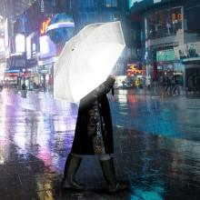 Paraply med livsviktig funktion