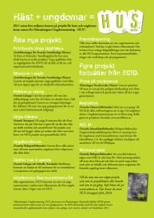 Nyfiken på HUS? Hästnäringens Ungdomssatsning 2011