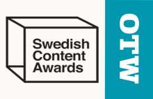 Prisregn över OTW på Swedish Content Awards