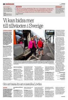 Vi kan bidra mer  till tillväxten i Sverige