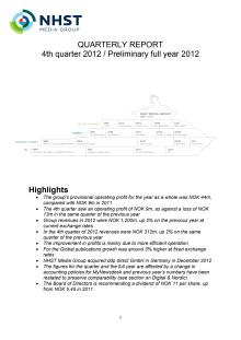 NHST Q4 2012 Report