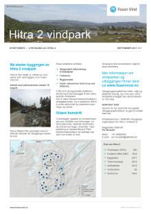 Nyhetsbrev Hitra2 vindpark #1 - 2017