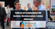Thermotech medverkar på Fastighetsfokus VVS i Stockholm den 5 oktober