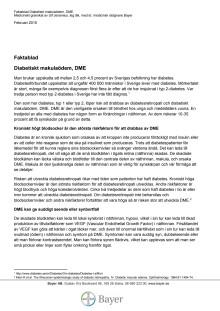 Faktablad diabetiskt makulaödem, DME