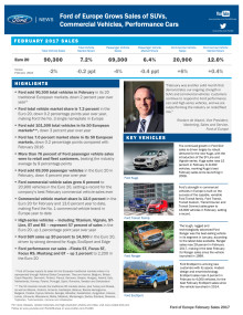 Sales Release Feb 2017: Ford of Europe Grows Sales of SUVs, Commercial Vehicles, Performance Cars