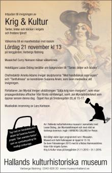 Krig & Kultur - utställning på Borggården, Varbergs fästning