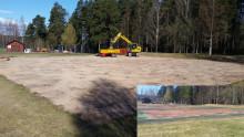 Nu grävs det för nya tennisbanor i Leksand