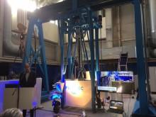 Imatralainen yritys Fimatec Oy esitteli tänään maailman suurimman rakennuselementtien 3D-tulostimen
