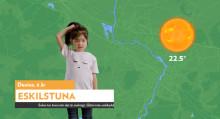 Kronans Apotek låter barnen presentera vädret för att föräldrar inte ska glömma solskyddet