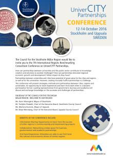 Inbjudan UniverCITY Partnerships konferens 12-14 oktober i Stockholm och Uppsala