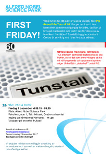 First Friday 1 dec 2017 - Tunstall AB