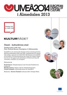Umeå2014 och Kulturrådet