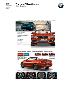 The new BMW 4 series - Highlights