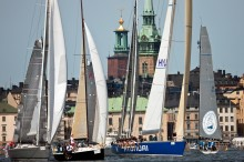 Saiboats in the city during ÅF Off Shore Race