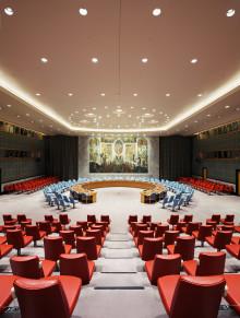Ny bok og utstilling om verdens viktigste rom - Sikkerhetsrådets sal i FN bygningen på Manhatten
