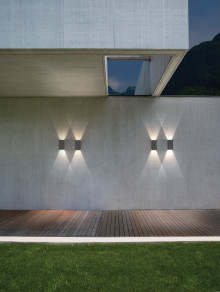Skapa en häftig atmosfär utomhus med lampor i betong.