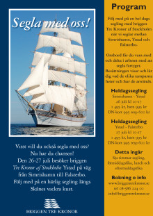 Program Briggen Tre Kronor i Ystad 26-27 juli 2012