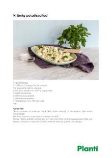 Recept krämig potatissallad från Planti