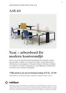 NEAT - arbetsbord för modern kontorsmiljö