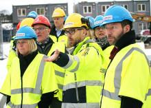 Järntorget fick besök av finansminister Magdalena Andersson