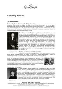 Rosenthal Company Portrait 2018