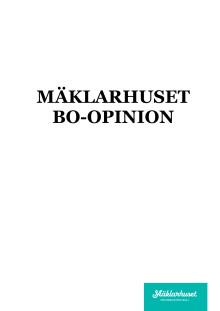 Mäklarhuset Bo-Opinion juni 2016