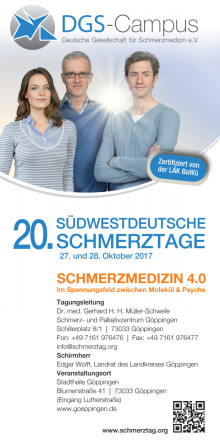Programm der Südwestdeutschen Schmerztage 2017