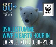 Eterassa pimenee lauantain 29.4. Earth Hour -hetkenä