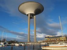 Underhållsarbete i Landskrona vattentorn