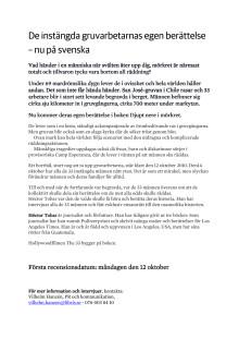 Pressmeddelande: De instängda gruvarbetarnas egen berättelse
