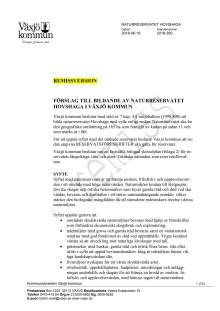 Hovshaga reservatbeslut förslag