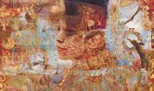 Pressvisning av utställningen Annika Ekdahl - Vävda bildvärldar