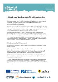 Gränsöverskridande projekt för hållbar utveckling