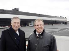 Goodtech på plats när Nordens största solcellsfasad invigdes idag