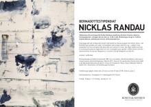 Vernissageinbjudan Nicklas Randau