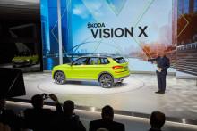 Världspremiär: ŠKODA VISION X - en fyrhjulsdriven gashybrid