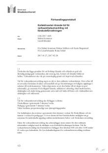 Kollektivavtal Lärarförbundet - Tid för verksamhetsutveckling vid förskoleförvaltningen