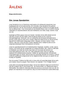 Om Jonas Sandström