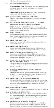Program för invigningshelgen 1-2 juni