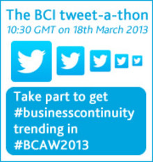Help us to make # BusinessContinuity a global trend this #BCAW2013