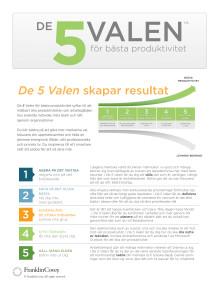 De 5 Valen - utbildningsinformation