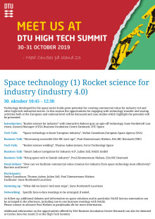Space technology (1) Rocket science for  industry (industry 4.0)