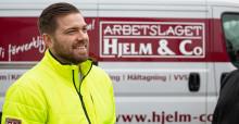 Digital inrapportering ger Arbetslaget Hjelm & Co full koll på sina arbetsorder
