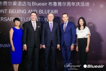 Blueair and Fairmont Beijing celebrate 1 year of Clean Air partnership