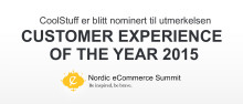 CoolStuff er blitt nominert til utmerkelsen «Customer Experience of the Year 2015» av Nordic eCommerce Knowledge.