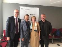 Björn Ulvaeus och Alfons Karabuda i exklusivt möte i EU-parlamentet