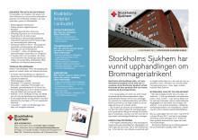 Stockholms Sjukhems anbud på Brommageriatriken