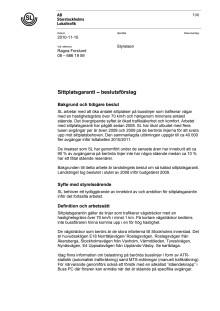 SL ärende om sittplatsgaranti beslutsförslag